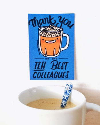 Thank You for being Teh Best Colleagues Mini Farewell Card
