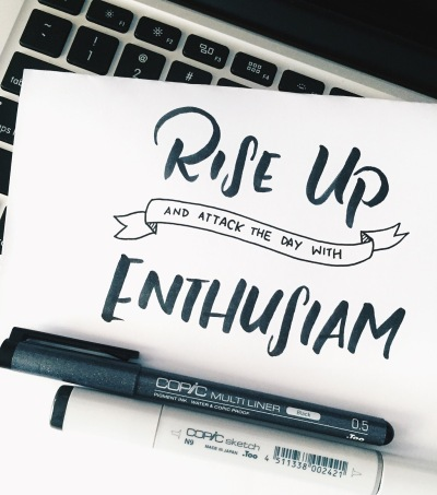 Letter It October Rise Up With Enthusiasm